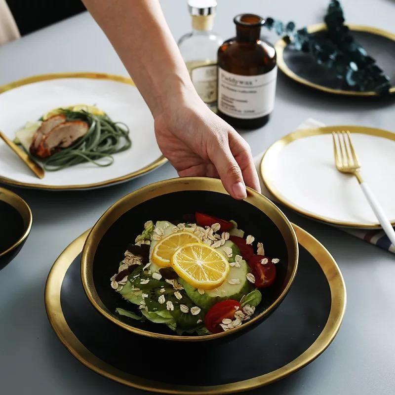 Luxe Dinnerware Set Plates And Bowls Ceramic Dinnerware Ceramic Tableware