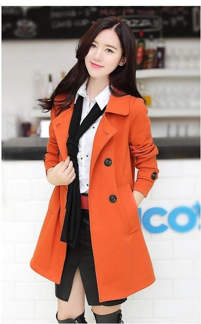 Cotton Blend Peacoat