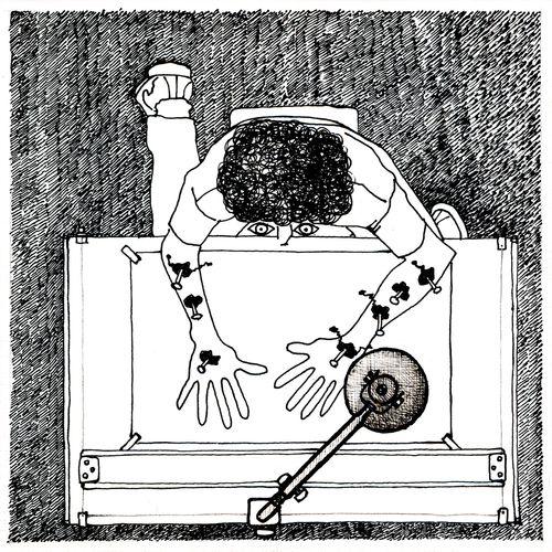 Estigmas : autor: Ramiro Quesada  técnica: tinta  dimensiones: 15,8 cm x 15,8 cm  post: fer  Ramiro Quesada deci pone  ME GUSTA o  bueno o no  http://www.facebook.com/megustaramiroquesada   quesadaramiro