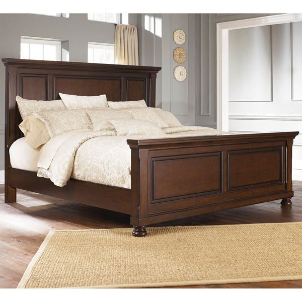 Elegant Porter Queen Panel Bed By Ashley Furniture Rich Dark Bronze Finish Size Frame A Cly Rustic Touch To Your Bedroom Bedsbyashley