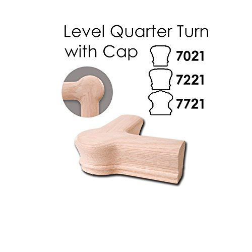Best Red Oak Level Quarter Turn With Cap 6010 Wood Staircase 400 x 300