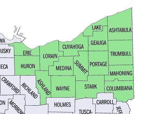 maps of northeast ohio counties Google Search Ohio Pinterest