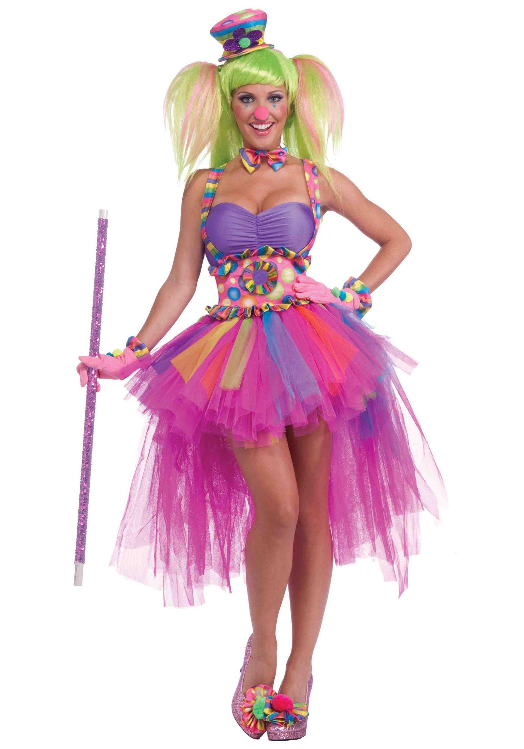 Adult girl clown costume