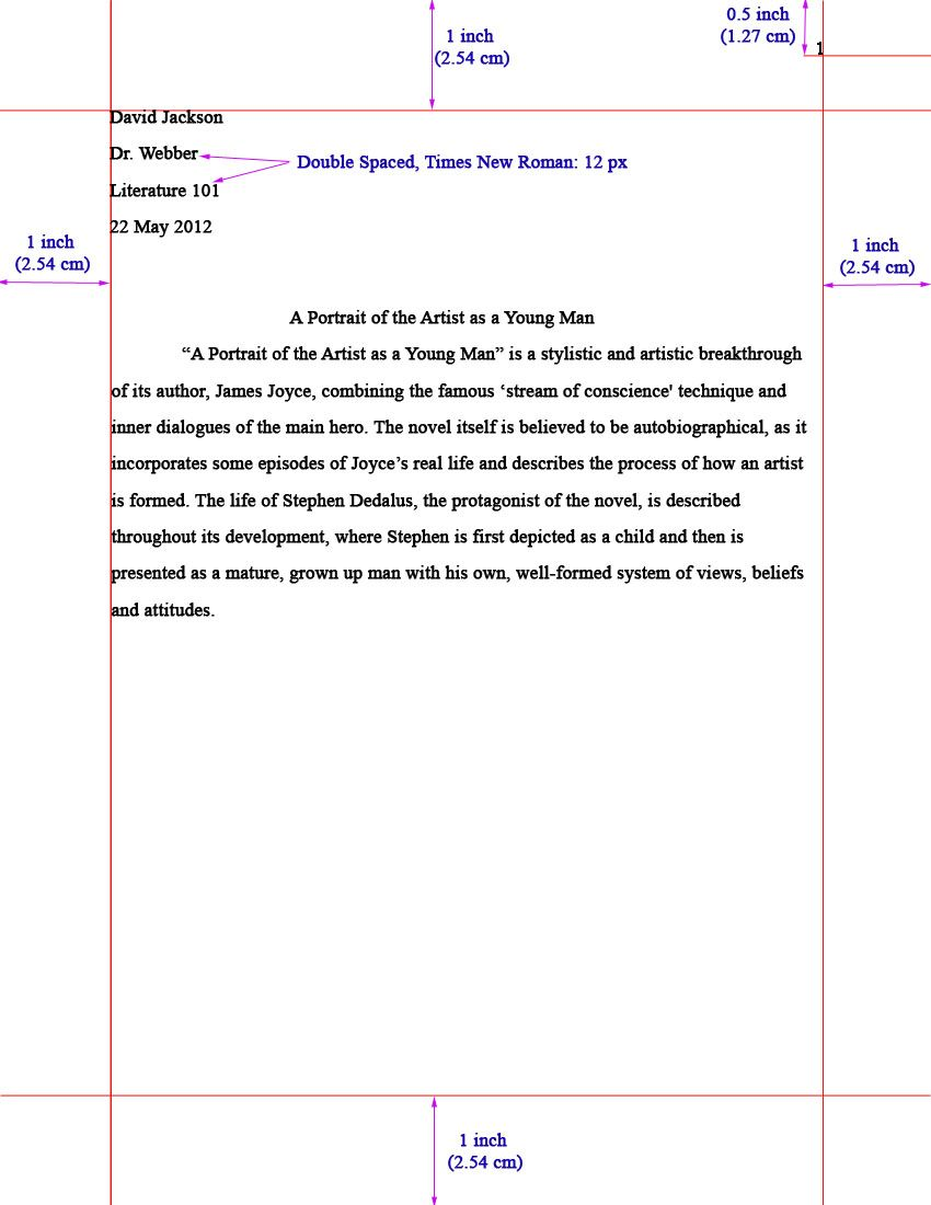 essay format sample  margins  font size  indentation