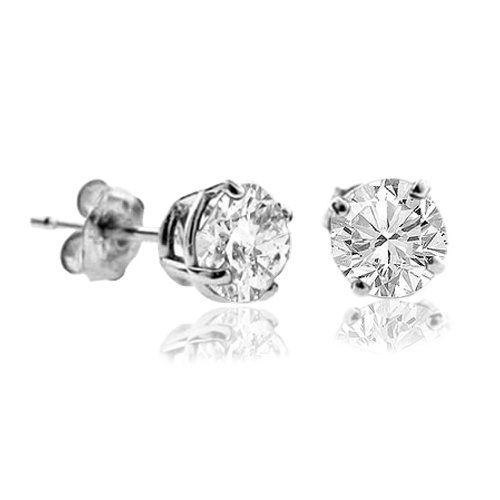 I Just Want Simple Pretty Little Ones It Feel Special D 1 5 Ct Diamond Stud Earrings 14k White Diamond Earrings Studs 14k White Gold Earrings Diamond Studs