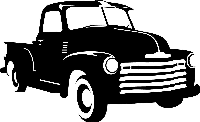 1950 Chevy Decal 7 00 Via Etsy Old Trucks Trucks Silhouette Monogram