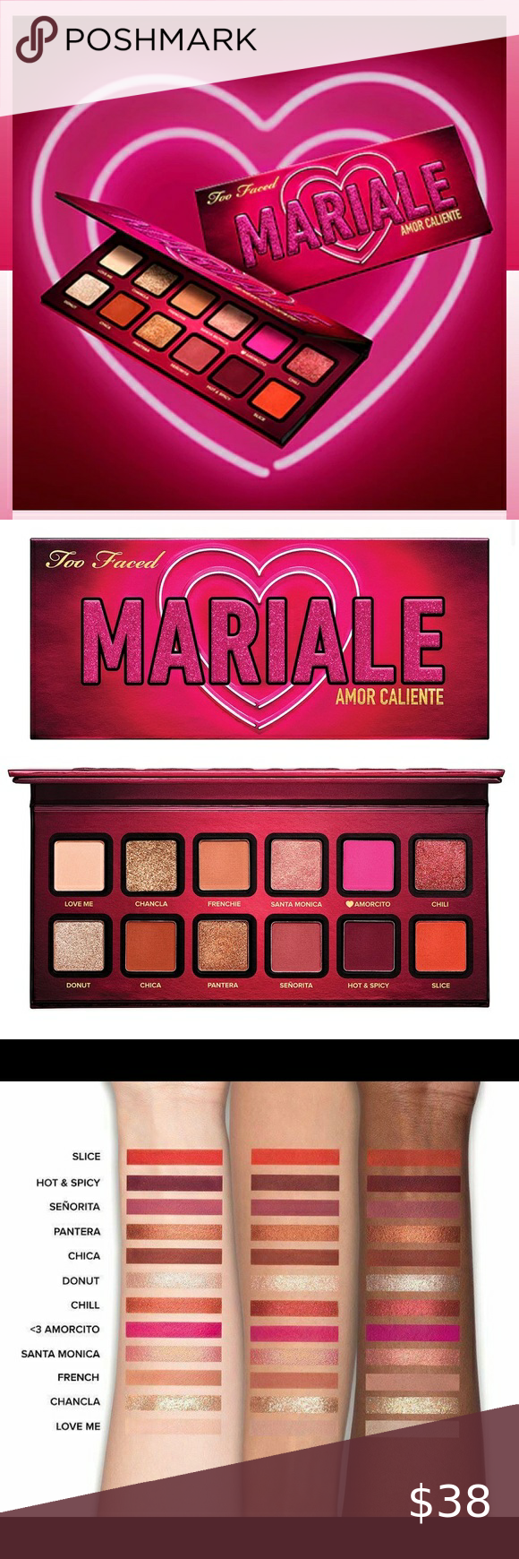Check out this listing I just found on Poshmark: Too Faced Amor Caliente Eyeshadow & Cheek Palette. #shopmycloset #poshmark #shopping #style #pinitforlater #Too Faced #Other