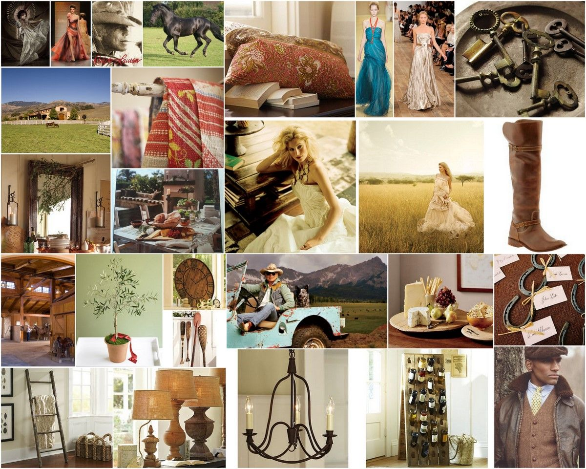 Anyone For A Western Theme Ralph Lauren Inspiration Wedding Collage