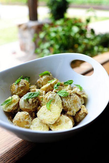 Creamy Lemon Basil Potato Salad