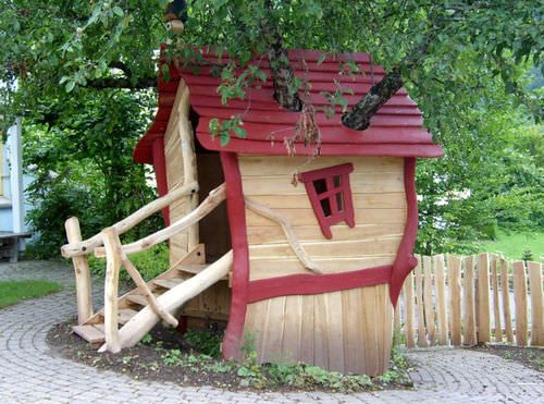 cabane enfant bois exterieur