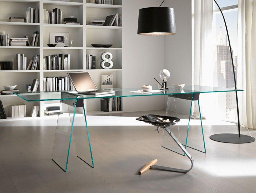contemporary office desk glass. Mesa De Vidro Com Cavaletes Para Escritório Contemporary Office Desk Glass I