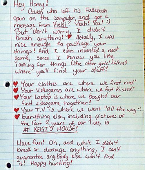 A Letter To Cheater Boy friendlmao! More thought involved then