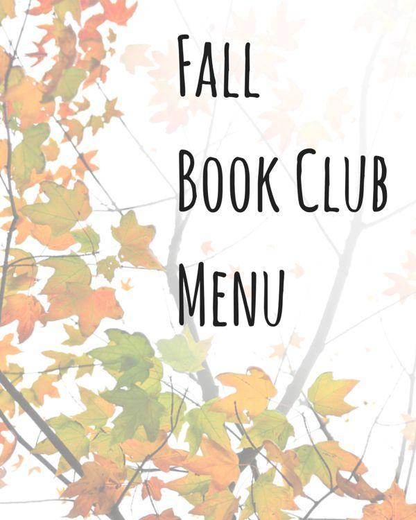 Fall Book Club Menu