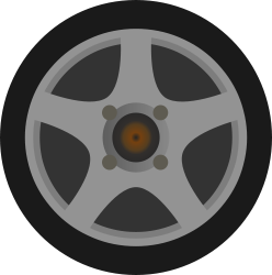 Simple Car Wheel Tire Side View By Qubodup Just A Wheel Side View Made For Trigger Rally I Quite Like It Hope You Do T Car Wheel Car Wheels Car Wheels