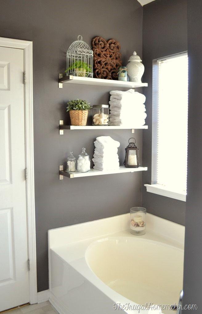 Installing Ikea Ekby Shelves In The Bathroom Bathroom Makeovers
