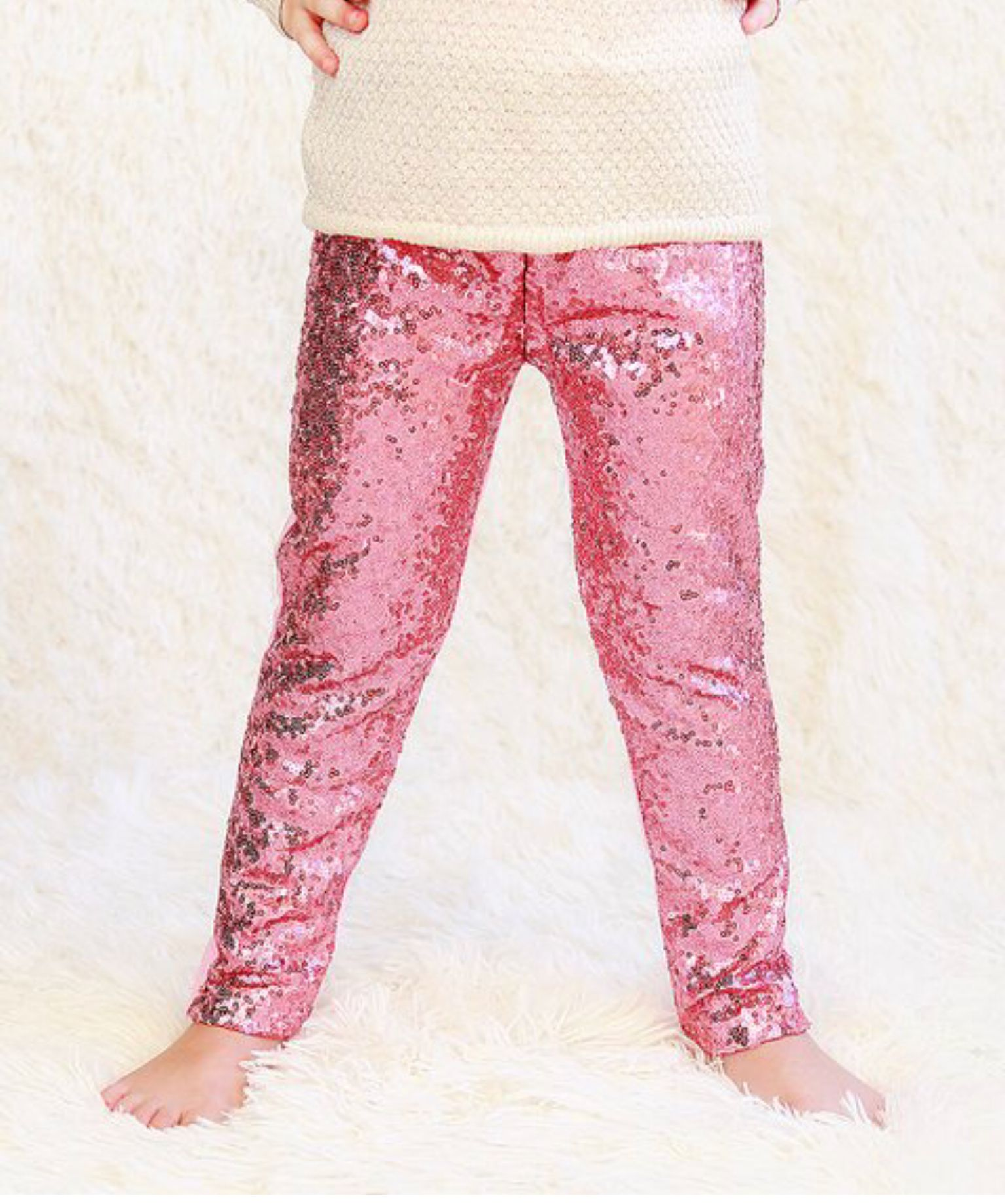 Whitney Elizabeth Pink Metallic Sequin Front Pants Infant Toddler