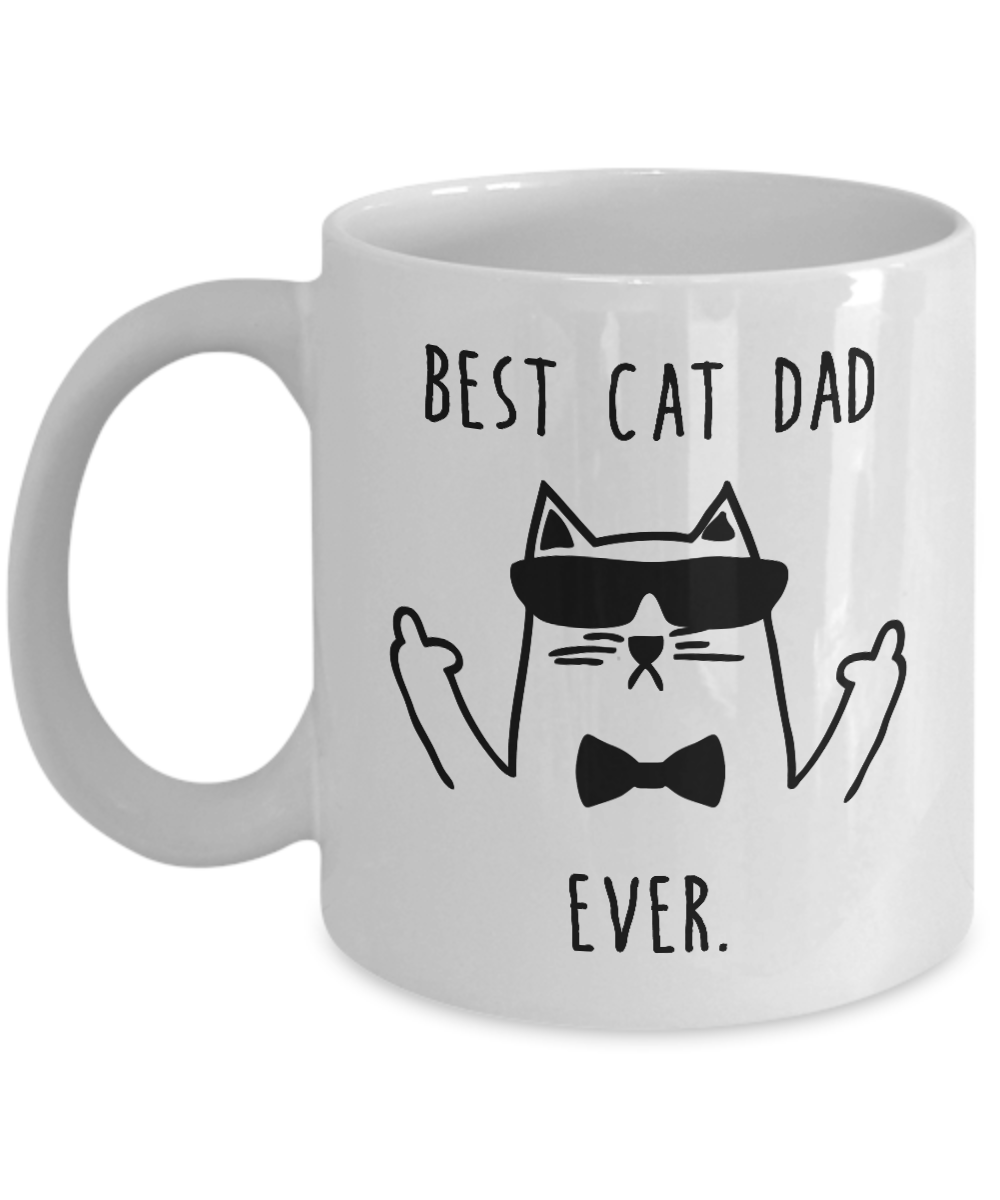 Best Cat Dad Ever Funny Mug Cat Lovers Gift for Father