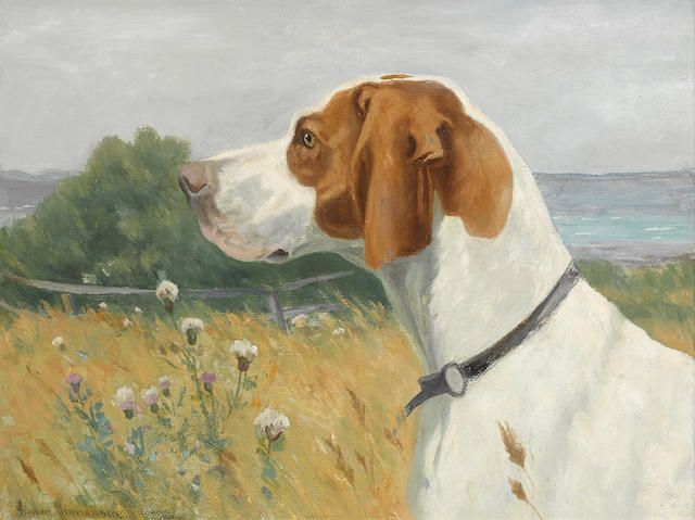 Simon Ludvig Ditlev Simonsen, Head of a Pointer.