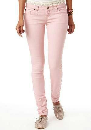 8-Zip Colored Skinny Jeans in District Pink | GUESS.com | Casual ...
