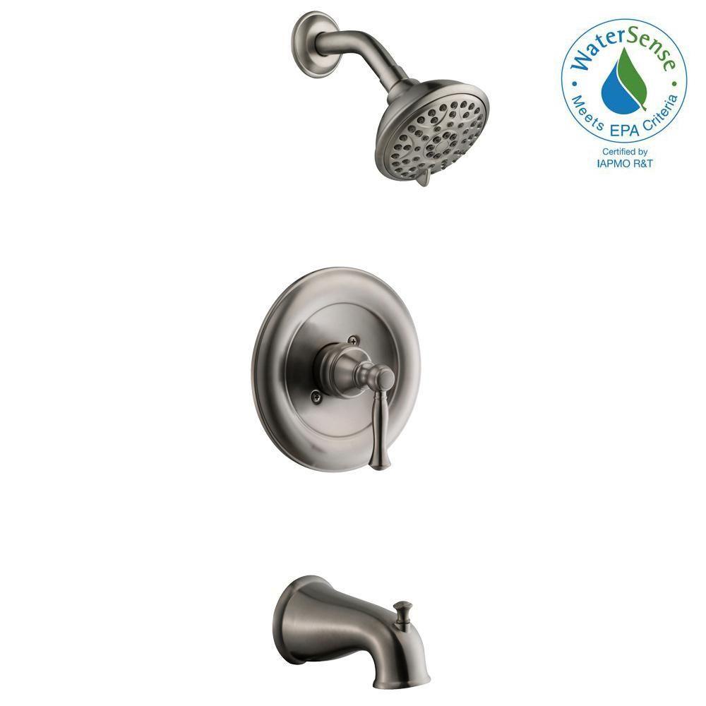 Glacier Bay Fairway 1 Handle 3 Spray Tub And Shower Faucet In