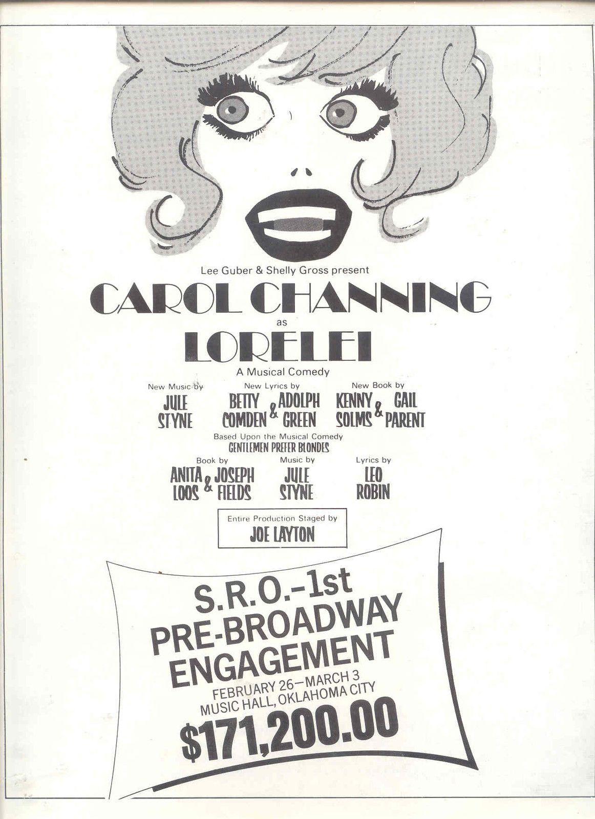 Carol Channing Lorelei S R O
