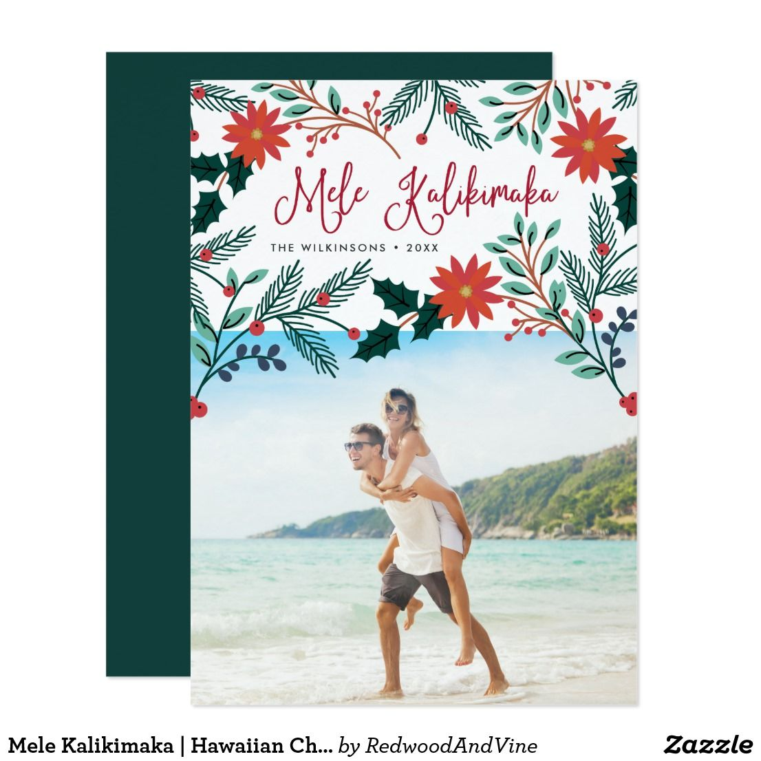 Mele Kalikimaka | Hawaiian Christmas Photo Card | Christmas photo ...