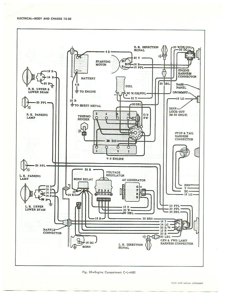 1966 66 CHEVROLET TRUCK WIRING   MANUAL