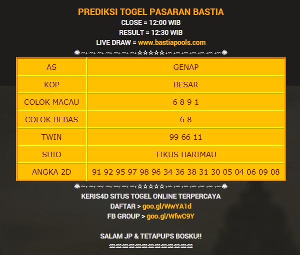 PREDIKSI TOGEL PASARAN BASTIA ✹⇝⇝⇝⇝⇝⇝⇝⇜⇜⇜⇜⇜⇜⇜✹ AS ... f821672391