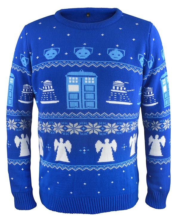 Doctor Who Tardis Ho Ho Ho Christmas Knit Mens Sweatshirt