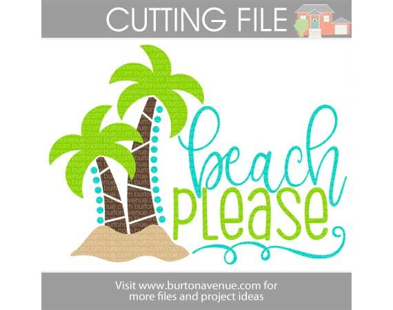 Flash Freebie} - Free SVG Cut File - Beach Please | Vinyl