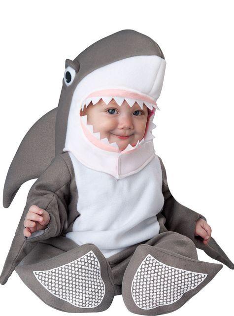 3006c1fbb1e5 Shark Bite Size Infant Baby Gray Halloween Costume SET~ INCHARACTER ...