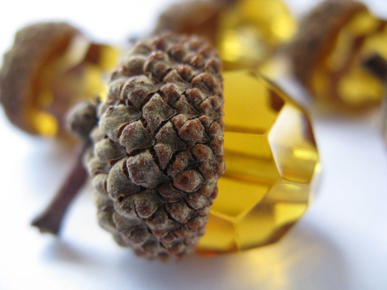 Glass Acorns Fall Autumn Acorn Decoration By WhysperFairy On Etsy, $8.95