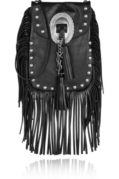 saint laurent anita fringed leather shoulder bag  553bce7f20d61