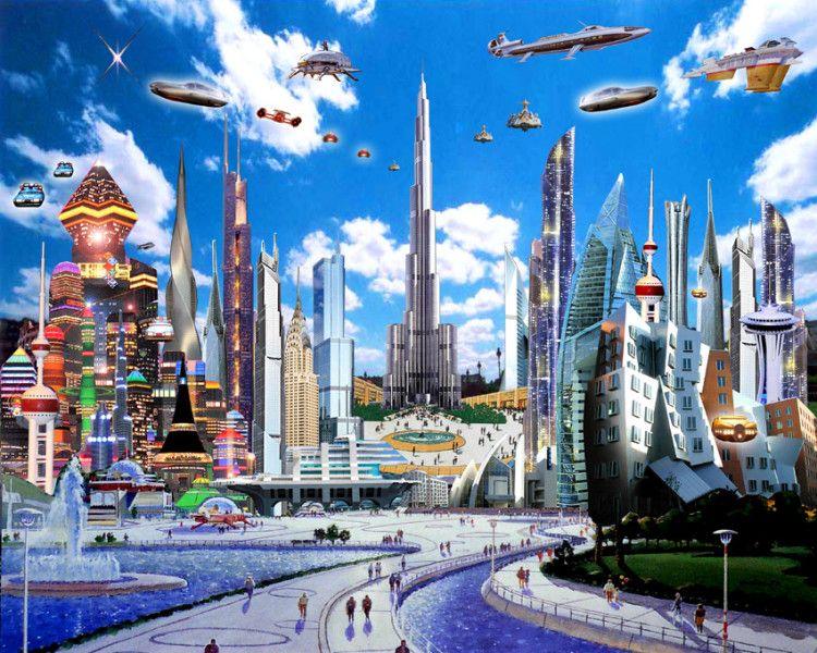 Top 10 Ciudades Del Futuro Neoteo Ciudad Futurista Futurismo Retro Ciudad Cyberpunk
