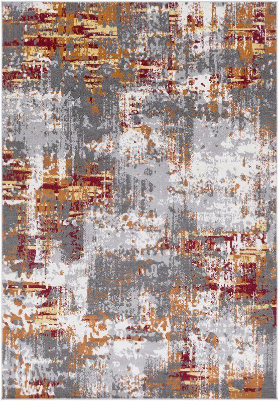 Azurine Burnt Orange Gray Area Rug Abstraktnoe Vintazh Oboi Vintazh