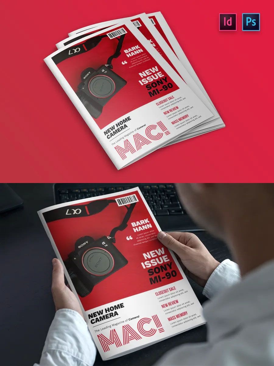 Photography Magazine Cover Indesign Template. Indesign