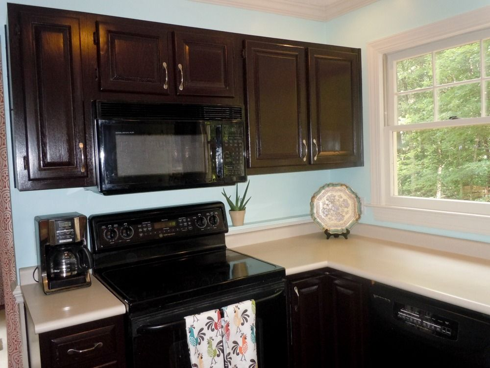How to Gel Stain Kitchen Cabinets | Stained kitchen ...