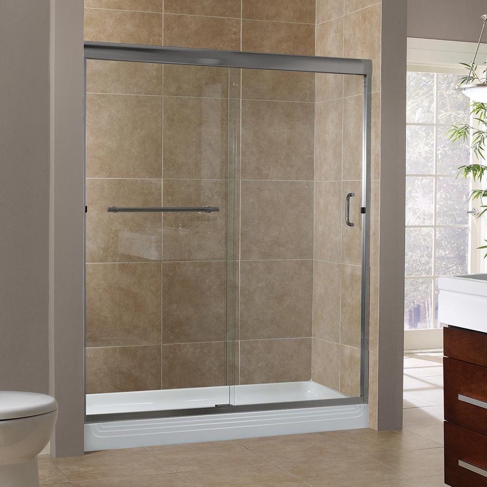 Foremost Marina 60 In X 76 In H Semi Framed Sliding Shower Door