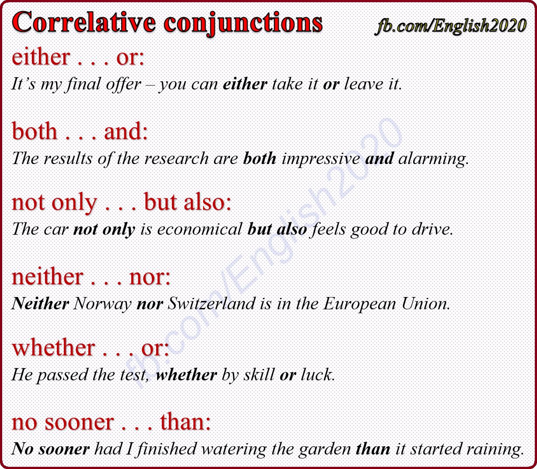 medium resolution of Correlative Conjunctions   Correlative conjunctions
