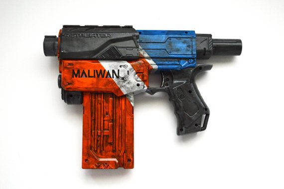 Borderlands inspired Nerf Retaliator with accessories
