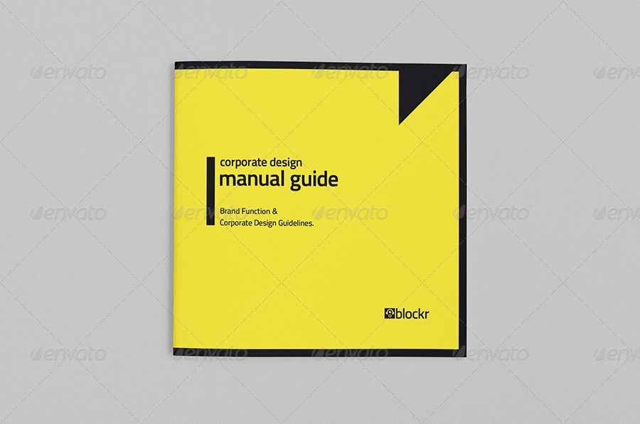 Corporate Design Manual Guide Square // 36 Pages #Ad #Manual, #AFFILIATE, #Design, #Corporate, #Guid...
