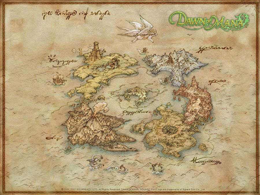 World map maps pinterest fantasy map rpg and character world map characters art dawn of mana gumiabroncs Choice Image