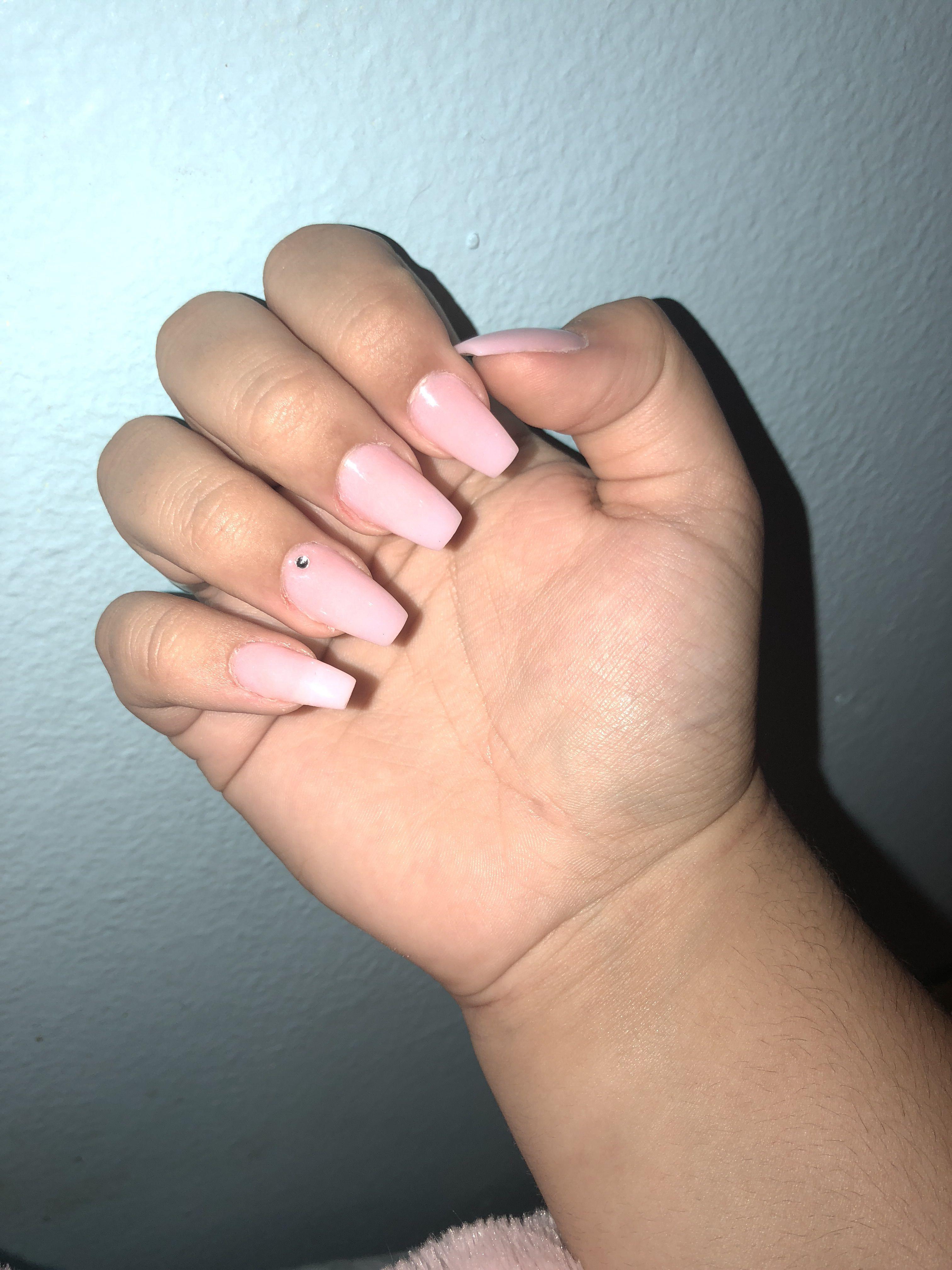 No Polish Just Pink Acrylic Powder Nails Pink Acrylics Acrylic Powder