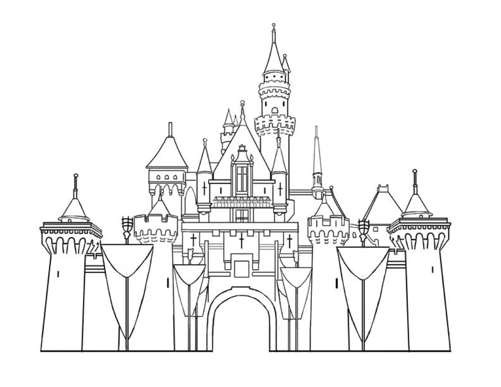 Castle Castle Coloring Page Disney Castle Drawing Castle Drawing