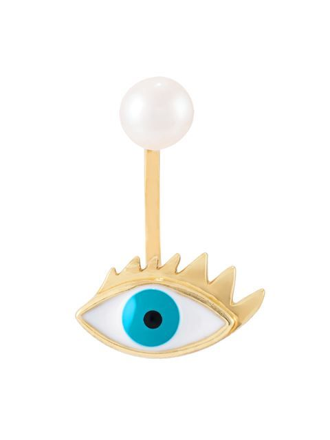 Shop Delfina Delettrez 'Eye piercing' earring in Uzerai from the world's best independent boutiques at farfetch.com. Shop 400 boutiques at one address.