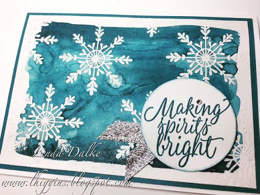 Emboss Resist with Watercolour for a gorgeous background