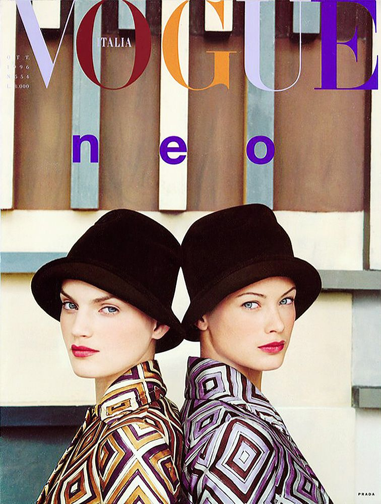 Guinevere Van Seenus  & Carolyn Murphy  | photography by Steven Meisel | Vogue Italia, October 1998
