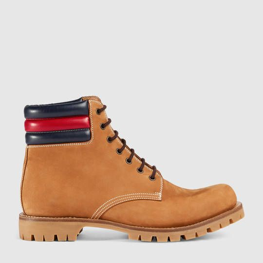 Gucci Suede boot with Web   Gucci boots