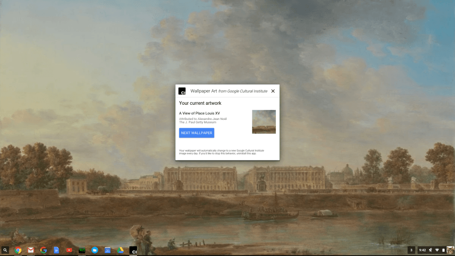 This app sets a new Google Art Project wallpaper on your