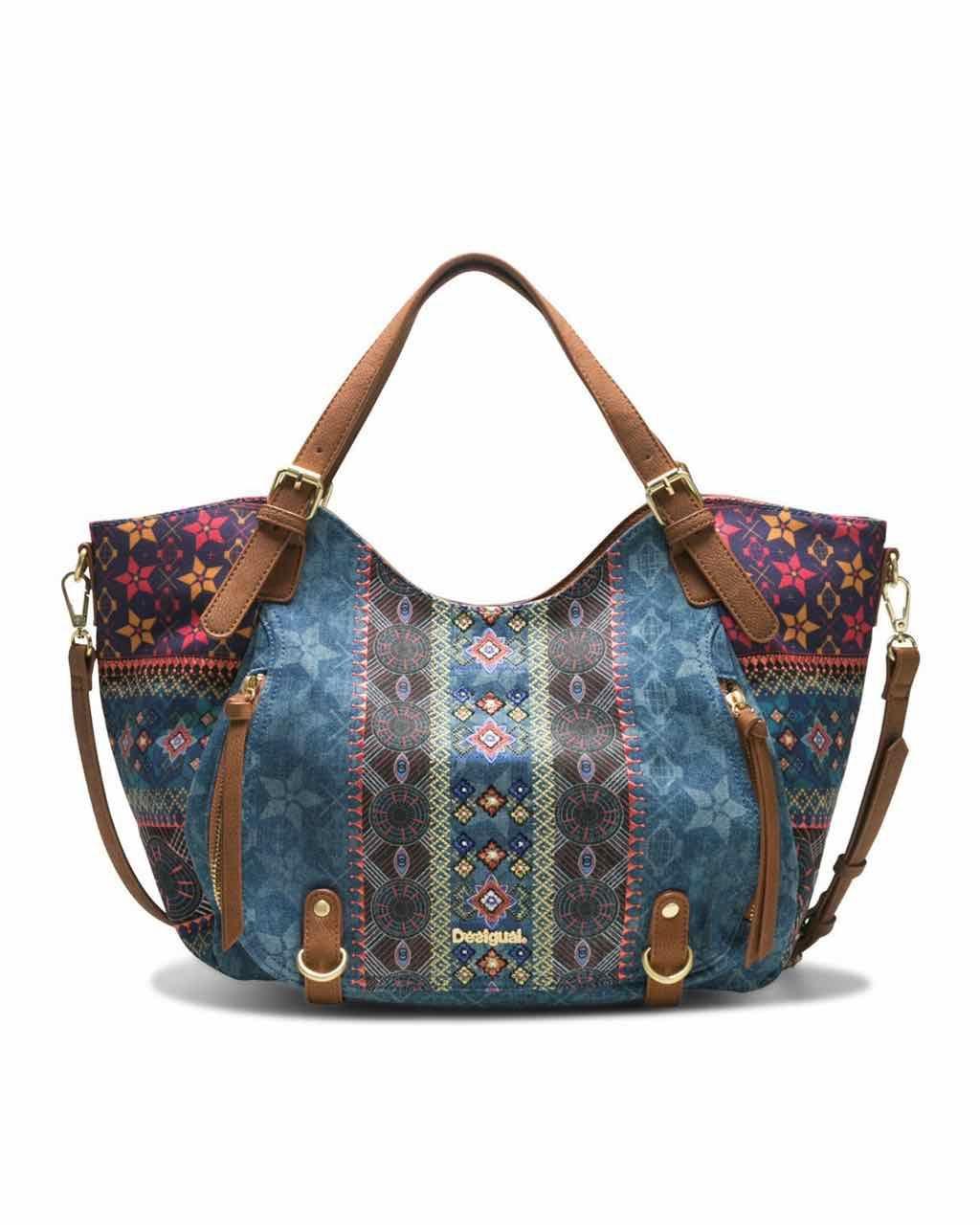 DESIGUAL Bag MYSTIC ROTTERDAM 18SAXFAT Blue Ethnic  3bdbc621b47